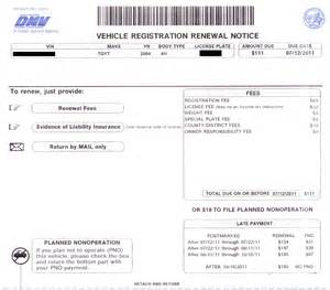 dmv new car registration fee registration card dmv pictures to pin on pinsdaddy