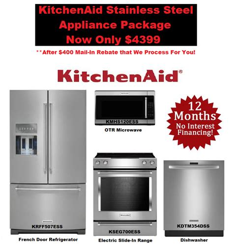 stainless steel kitchen appliance package deals complete kitchenaid kitchen appliance deals chandler az