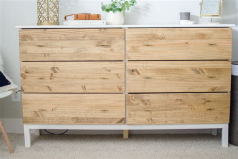 ikea wooden dresser stylish diy ikea tarva dresser hack shelterness