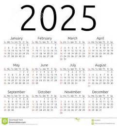 vector calendar 2025 sunday stock vector image 62409204