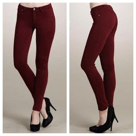 For @Meg1846 Burgundy jeggings (skinny pants) L from G's