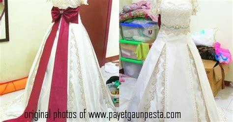 Dress Mewah Modern Dress Ekor Berkualitas Real Pict Ori Murah Bagus 52 payet gaun pesta desain baju pesta kebaya modern dan gaun pengantin model gaun pengantin