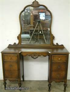 Antique Sideboards And Hutches Antique Burl Walnut 6 Drawer Vanity With Mirror At Antique