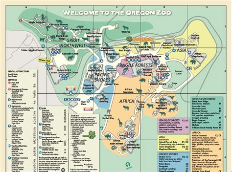 map of oregon zoo oregon zoo wikia travel