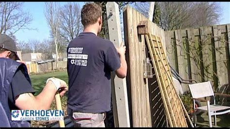 l ophangen instructie hoe plaats ik een schutting hout beton youtube