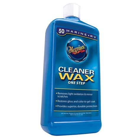 boat rv cleaner wax liquid meguiar s m5032 marine rv one step cleaner wax liquid