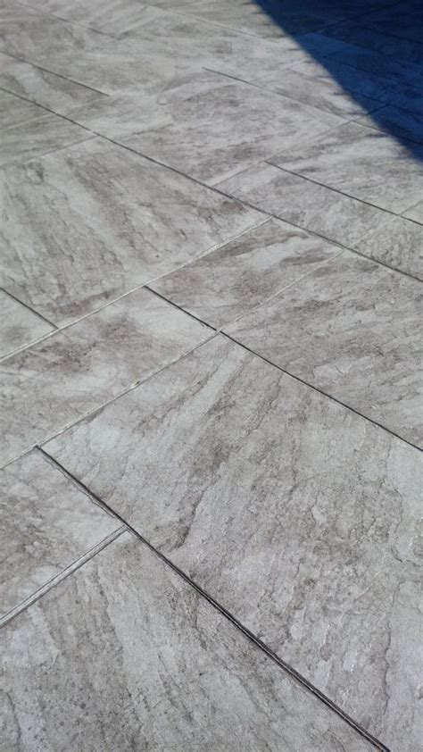 regular concrete with walnut release agent colour in