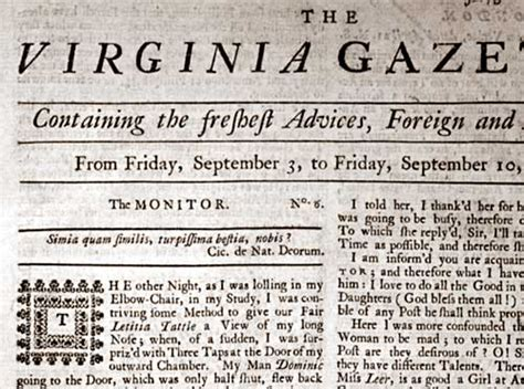 colonial newspaper template early american newspapering the colonial williamsburg
