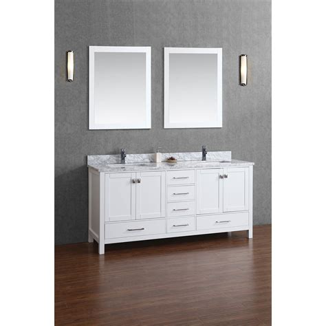 Bathroom Vanity Wood Buy Vincent 72 Inch Solid Wood Bathroom Vanity In White Hm 13001 72 Wmsq Wt