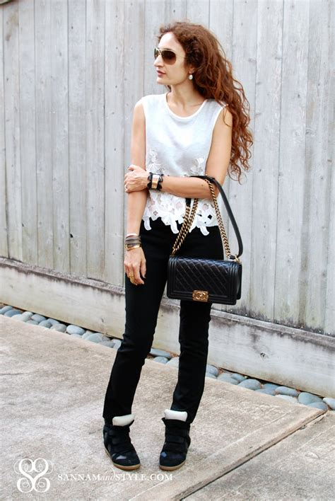 26630 Wedging Casual Top casual travel style marant wedge sneakers and crop top sannam and style