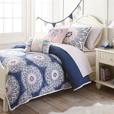 frank and lulu dream catcher comforter set in indigo bed