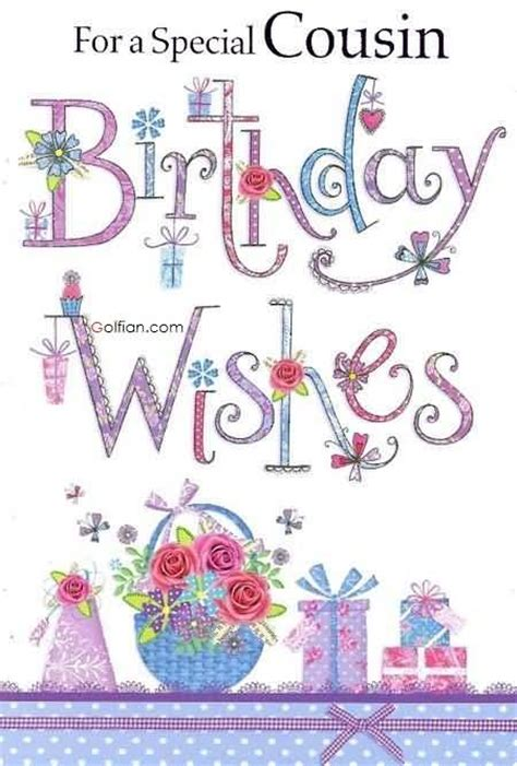 Happy Birthday To A Special Cousin by 45 Birthday Wishes For Cousin Beautiful Greeting