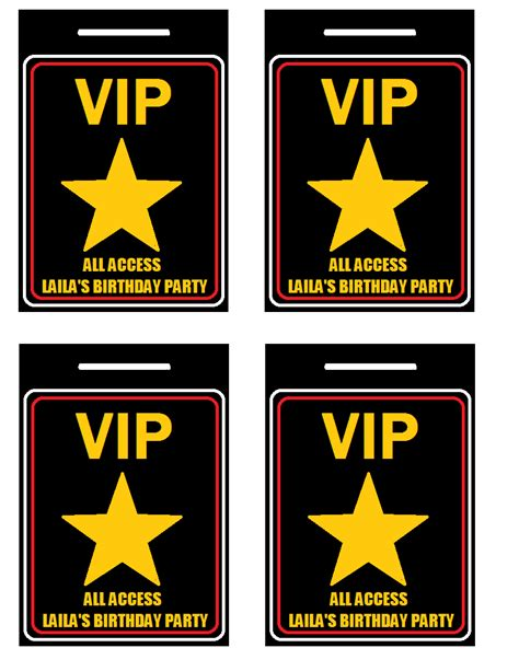 vip pass template vip passes i made for a carpet punch