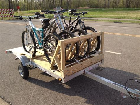 utility trailer setup for 5 bikes mtbr