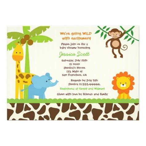 printable safari invitation templates safari jungle zoo baby shower invitations shower