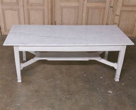 Marble Top Dining Tables For Sale Antique Marble Top Dining Or Confectioner S Table For Sale At 1stdibs