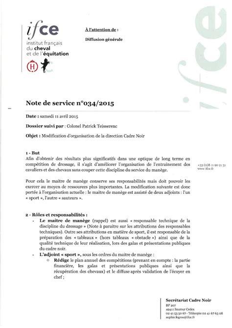 Modification Contrat De Travail Réorganisation by 10 Exemple Note De Service Usssandiego