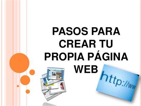 imagenes sobre web pasos para crear tu propia p 225 gina web
