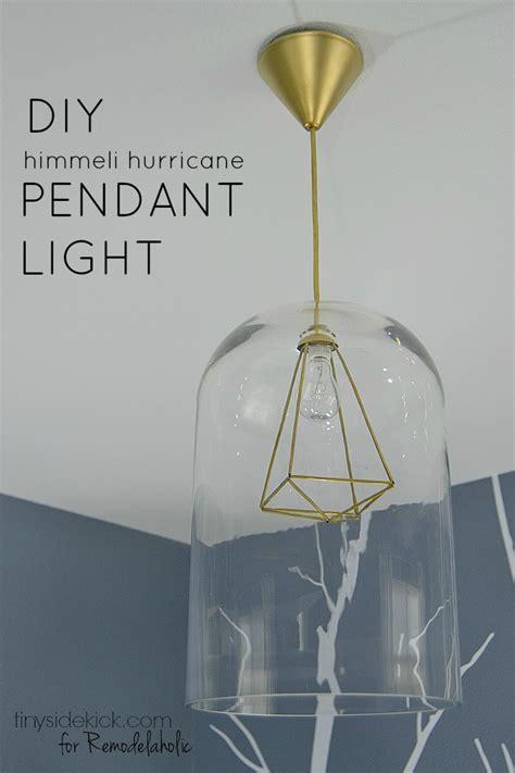 pendant light diy remodelaholic diy glass and himmeli pendant light
