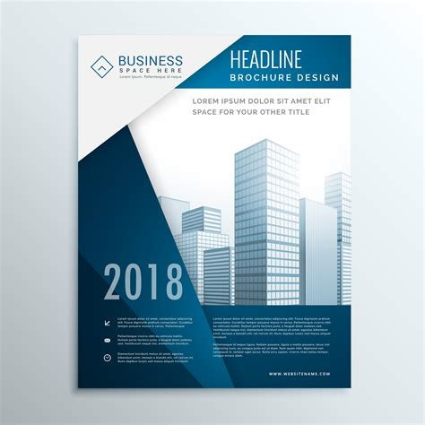 Business Brochure Leaflet Cover Page Design For Annual Report Ve Download Free Vector Art Business Catalogue Design Templates
