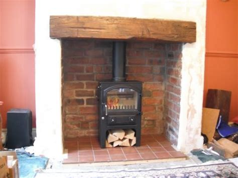 Fitting Wood Burning Stove In Fireplace by 17 Best Ideas About Surround On Wood