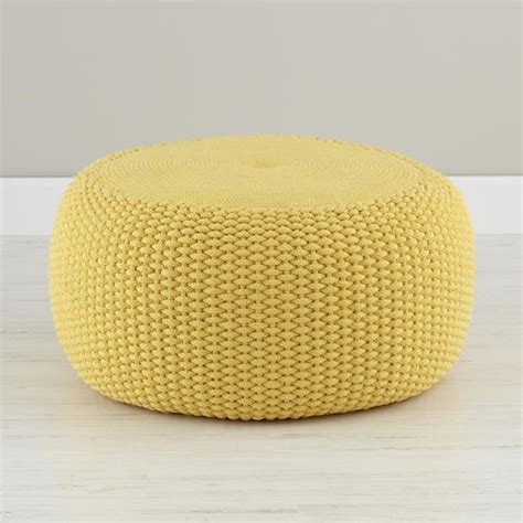 yellow ottoman yellow braided pouf contemporary floor pillows and