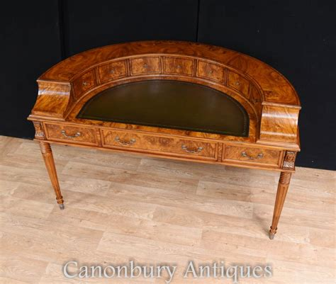carlton house writing desk regency walnut carlton house desk writing table ebay