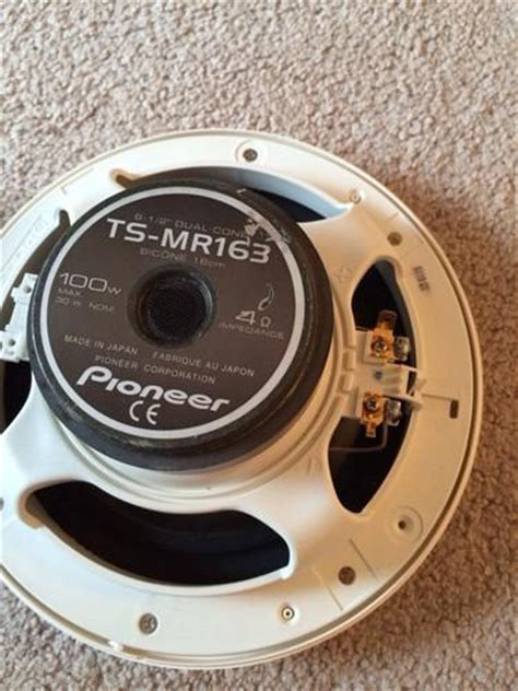 pioneer boat speakers purchase pioneer ts mr163 6 5 quot marine use boat dual cone