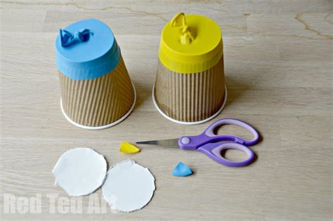 craft work with paper cups recycled coffee cup craft poppers ted s