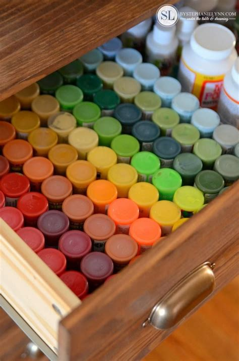 acrylic paint keeper 25 best ideas about craft paint storage on