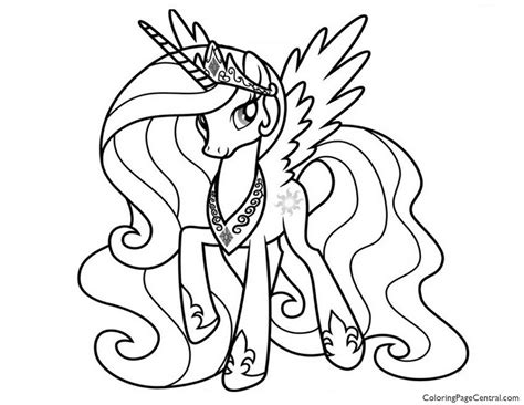 My Pony Princess Coloring Pages my pony princess celestia 02 coloring page
