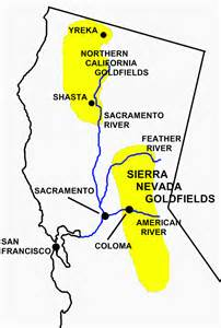 california gold map 1849