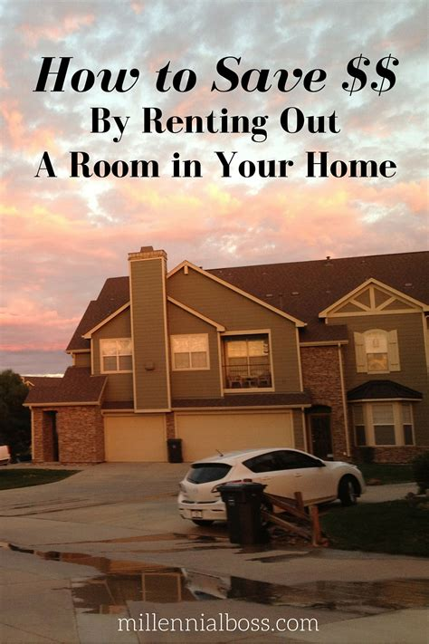 save money by renting out a room in your home