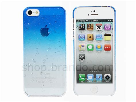 Iphone 4s Hardcase Green Side Clear Back iphone 5 5s se water drop back