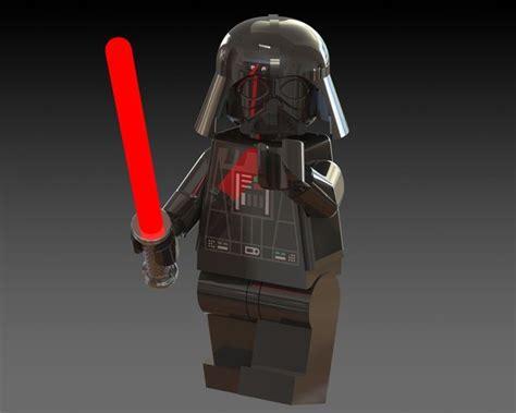 Lego Minifigure Darth Vader 2 darth vader lego minifigure 3d model sldprt sldasm slddrw cgtrader