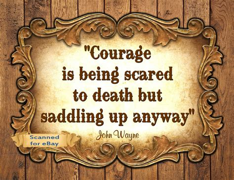where courage calls return to the canadian west volume 1 wayne quote western cowboy print quot courage is
