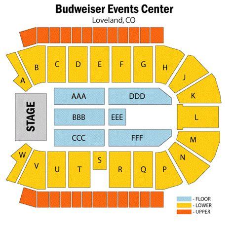 Budweiser Events Center Concert Seating Chart, Budweiser