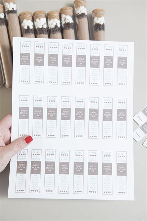 Learn How To Make This Delicious Instant Mocha Mix Test Label Template