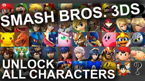 Smash Bros 3ds All Characters
