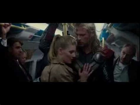 thor movie kiss scene thor the dark world epic train scene youtube