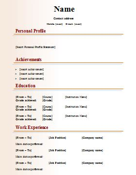 resume templates publisher publishing cv template
