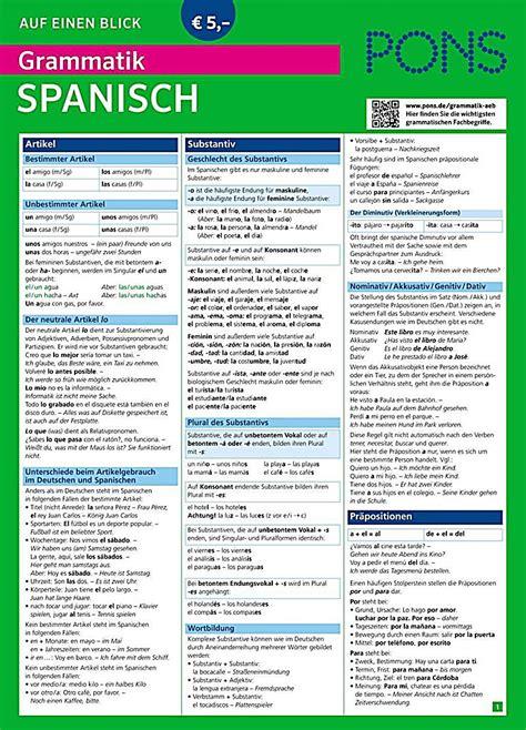 pons bildwrterbuch spanisch fr pons grammatik auf einen blick spanisch buch weltbild ch