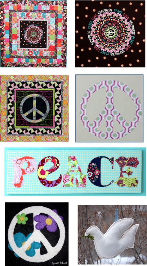 Peace Quilt Pattern by Quilt Inspiration Free Pattern Day Peace And