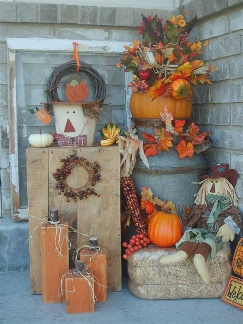 outdoor fall decorations pictures   images