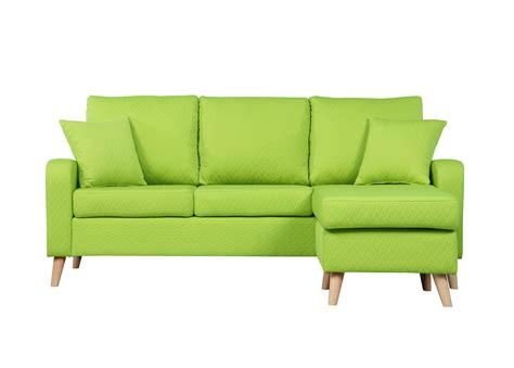green fabric sofas modern fabric small space sectional sofa with reversible