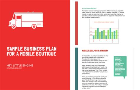 Fashion Truck Business Plan Template Fashion Truck Business Plan Template Start Or Grow A Mobile Boutique Business Hey Little Engine
