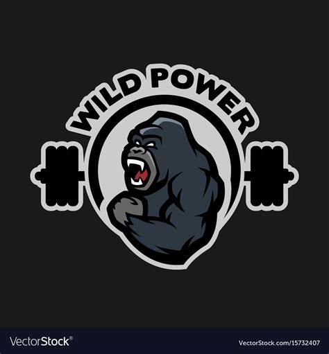 Kaos Fitness World Logo 07 angry gorilla sports logo royalty free vector image