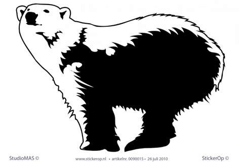 muurstickers thema wilde dieren ijsbeer