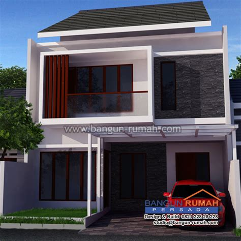 desain depan rumah lebar 8 meter desain rumah 2 lantai di lahan 8 x 15 m2 brp 805