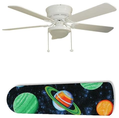 space ceiling fan planets outer space 52 quot ceiling fan with l